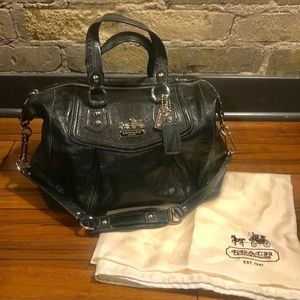 Coach Madison Audrey Black Leather Satche